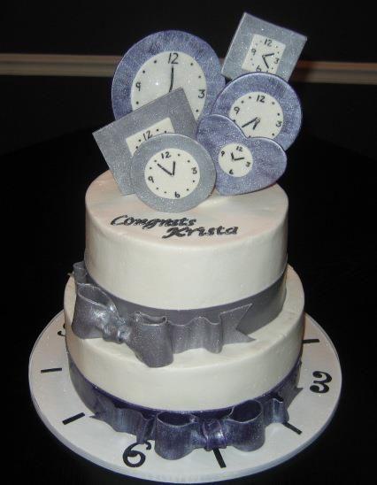 around the clock bridal shower cake