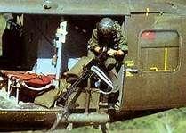 Bell UH-1 Huey - Door Gunner, 1969, Vietnam.