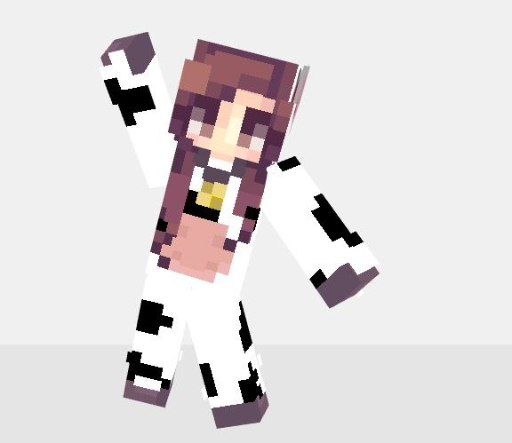 Edited Minecraft Cow Girl Onesie Skin Minecraft Skins Pinterest - Skin para minecraft pe cow