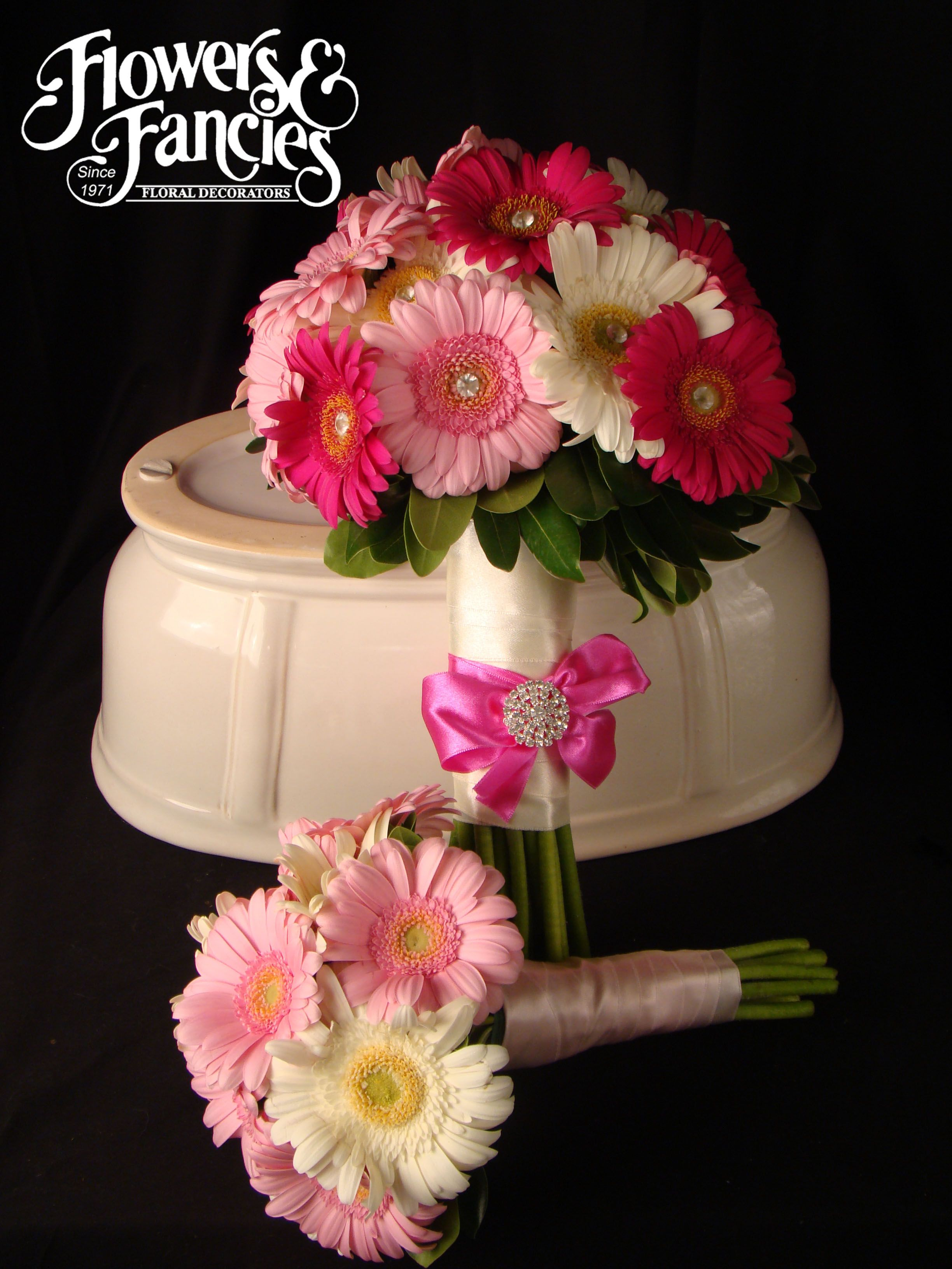 Flowers & Fancies Bouquets. Pink and White Gerber Daisy Bouquets ...
