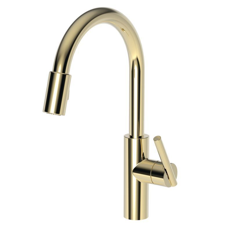 Newport Brass 1500 5103 East Linear Pull Down Spray Kitchen Faucet