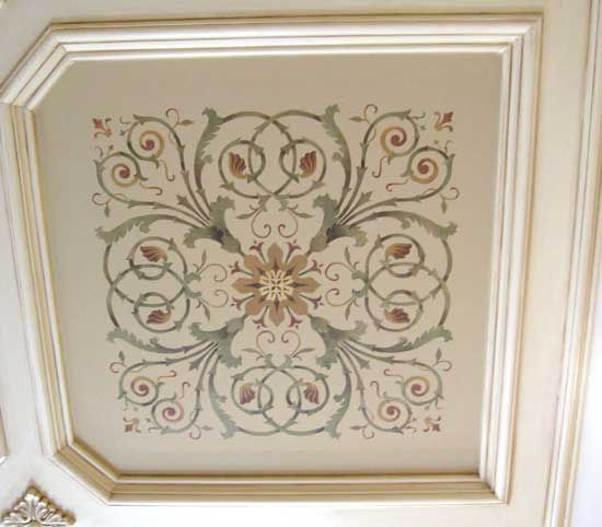 Stencil A Coffered Ceiling Like A Pro With Images Stencils