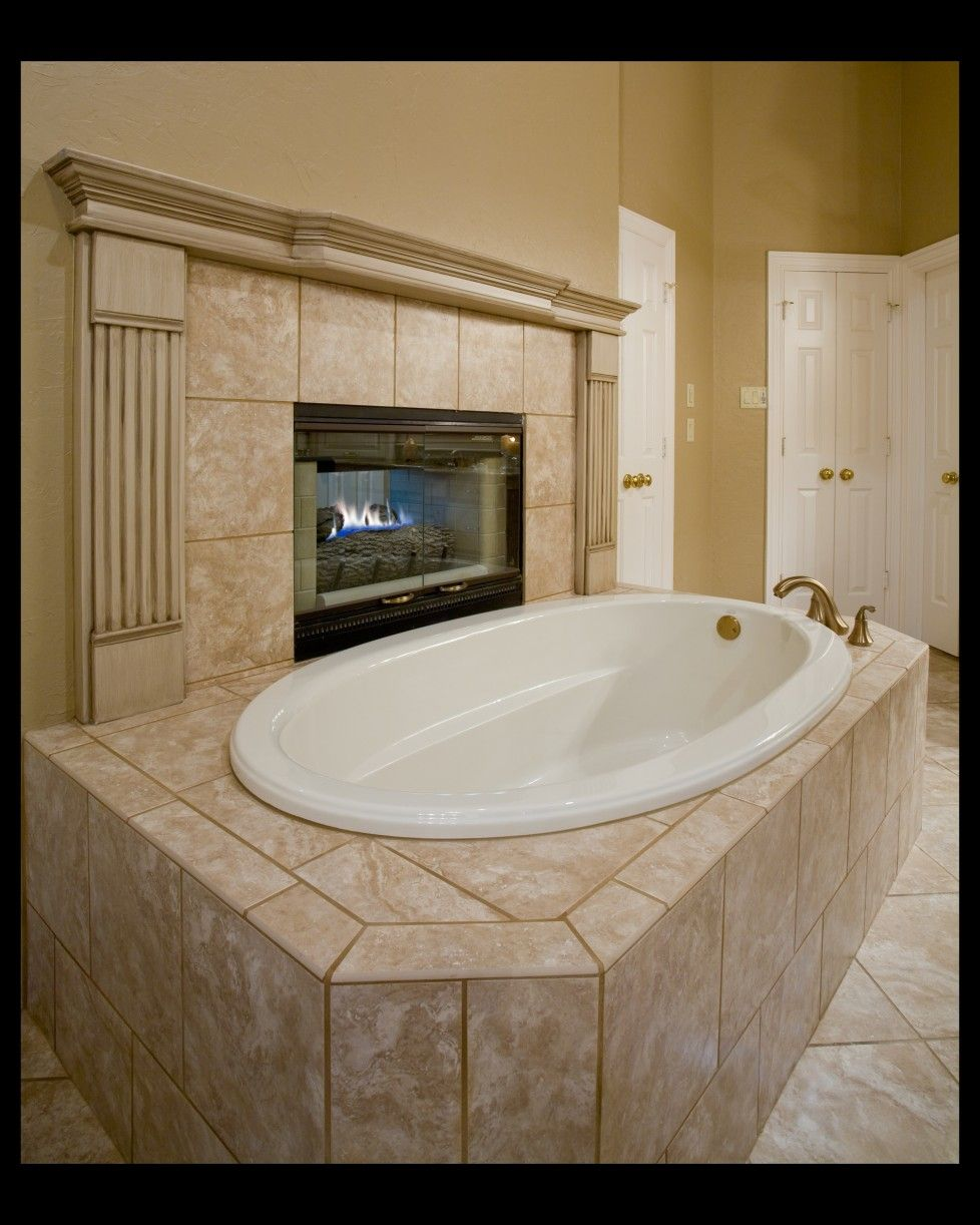 bathroom electric foreplace | ... Bathroom Tile With White Build In ...