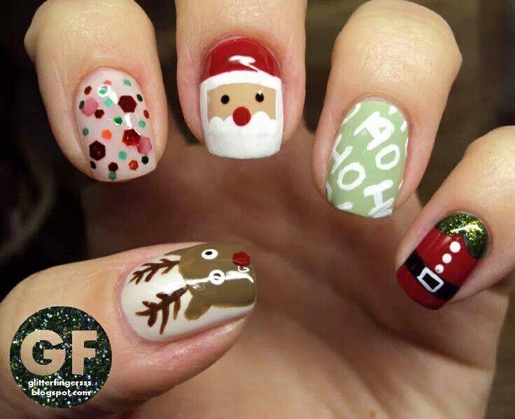 Uñas Navideñas Uñas Navidad Diseños De Uñas De Navidad Uñas Decoradas Navideñas