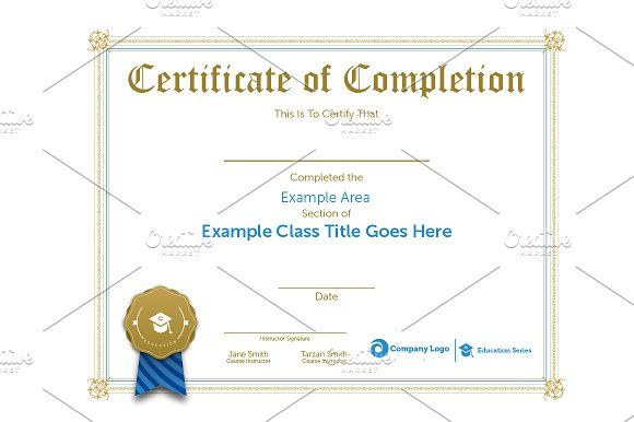 Class Certification Certificate by Ryder Doty on @creativemarket - certification templates