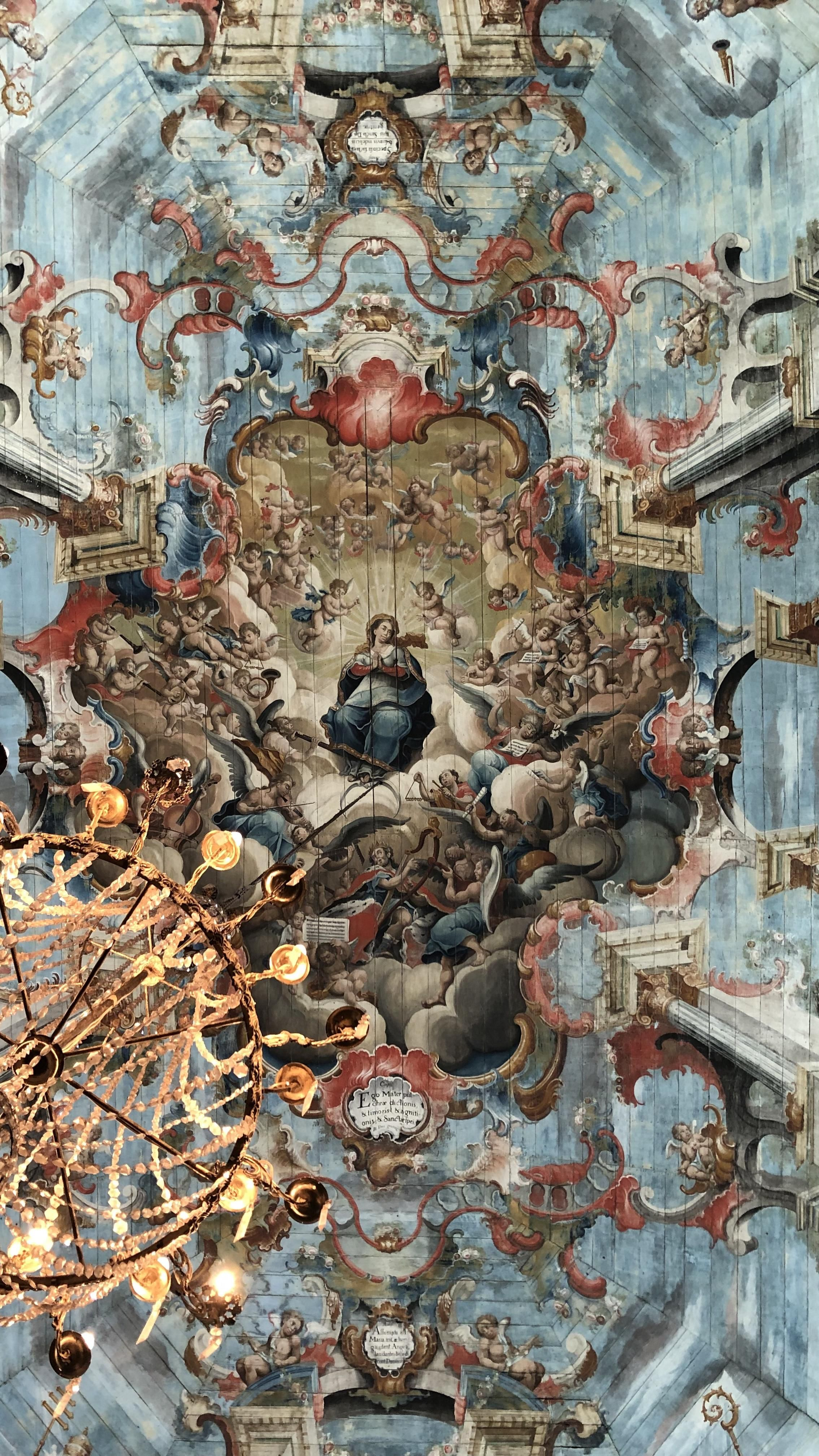 Ceiling Of The Church Of San Francisco De Assis In Ouro Preto