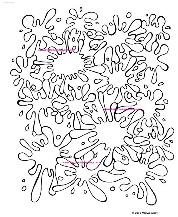 coloring page for grown ups paint splatters by bigtranchsoap