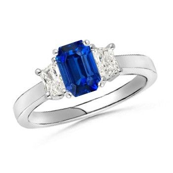 Angara Tanzanite Diamond Engagement Ring in Platinum eUNIU