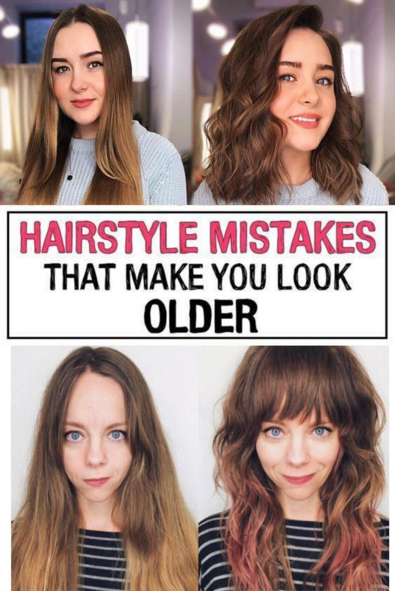 11 Hairstyle Mistakes That Are Aging You In 2020 Hairstyle Mom Hairstyles Beauty Mistakes