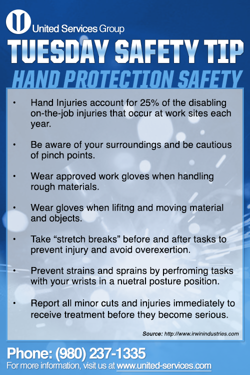 This week's Tuesday Safety Tip is about Common Hand
