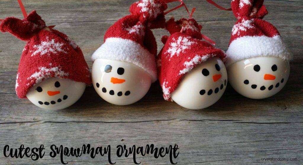 The Cutest Homemade Snowman Ornaments Ever Snowman Ornaments