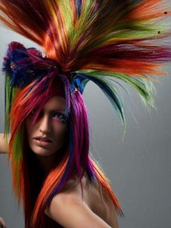 Crazy Hairstyle Hairdos Beauty Women Hair Pinsville Crazy Hair Days Crazy Hair Hair Tint