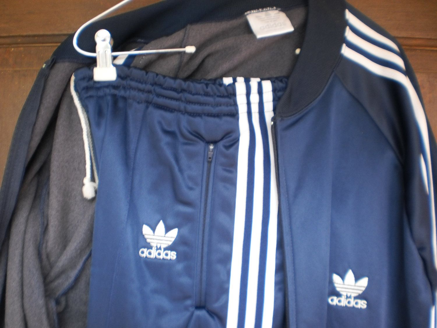 0867c6df524a3 Vintage ADIDAS Trefoil Striped Shoulders Athletic Warm Up Suit ...