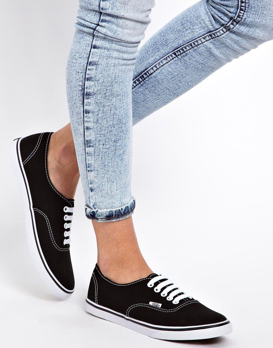 e2d725cd Vans Lo Pro Classic Black and White Lace Up Trainers | shoes | Vans ...