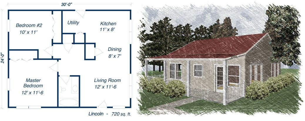 Lincoln Metal House Kit Steel Home