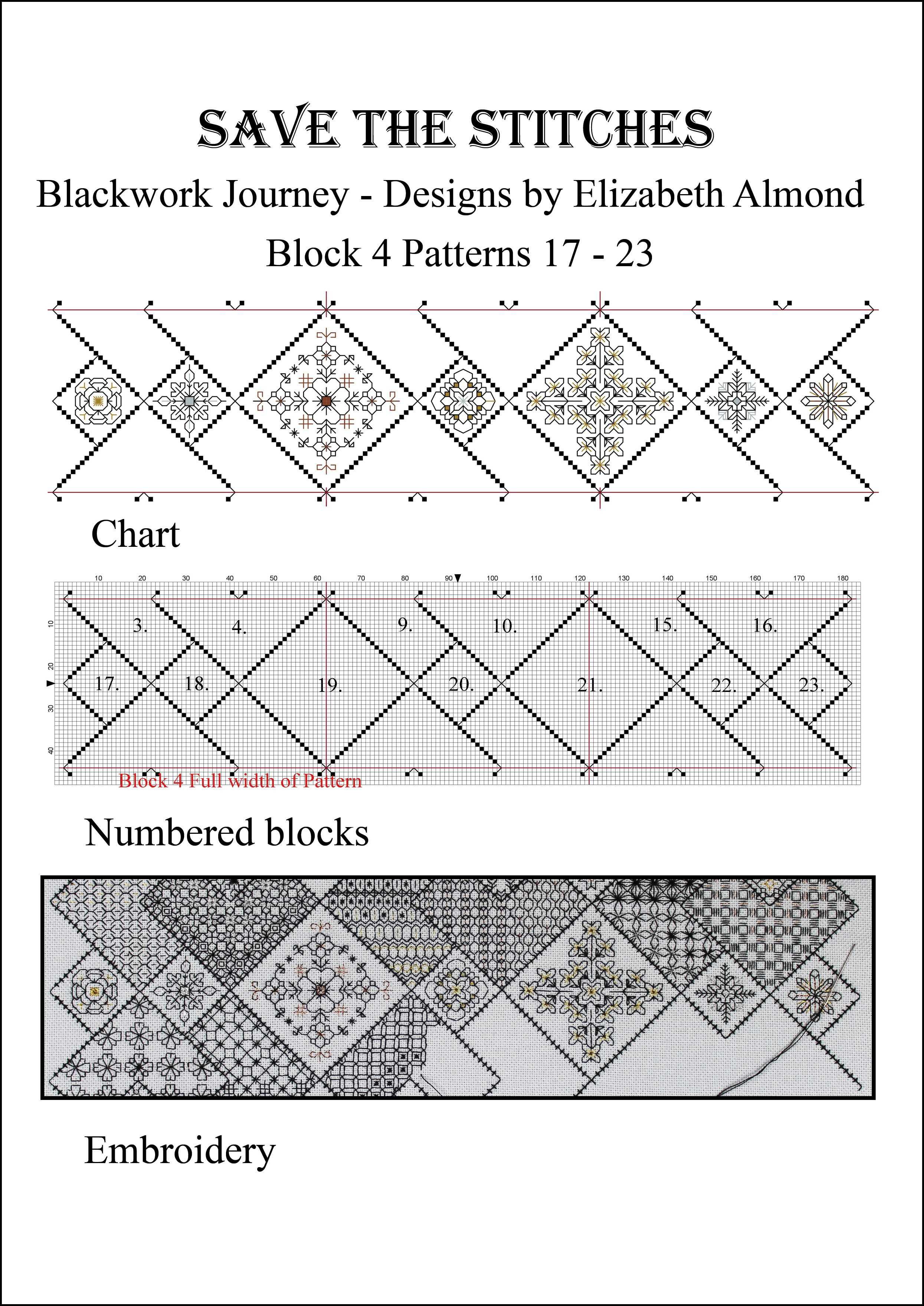 Block 4 \'Save the Stitches\' March 2014 Free PDF download from www ...