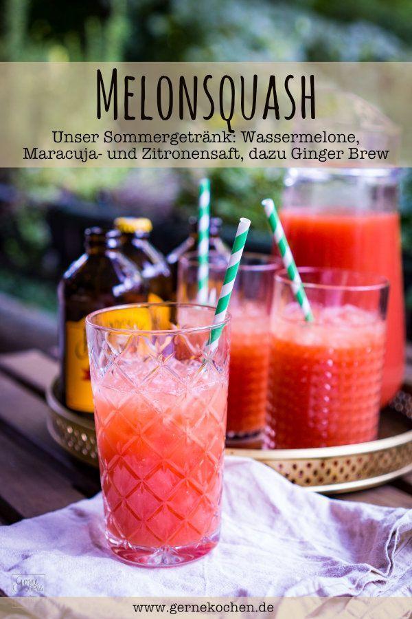 Melonsquash | Rezept | Pinterest | Sommergetränke, Wassermelone und ...