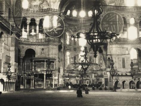 Photographic Print: The Interior of the Hagia Sophia in Istanbul ...