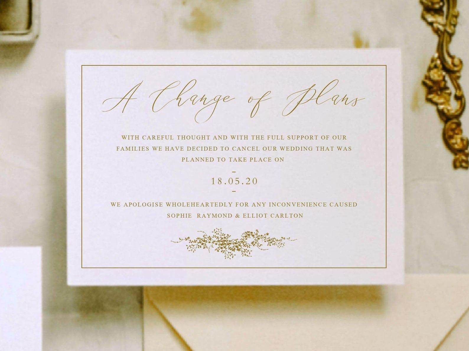 The 14 Best Change the Date Cards to Send If Your Wedding