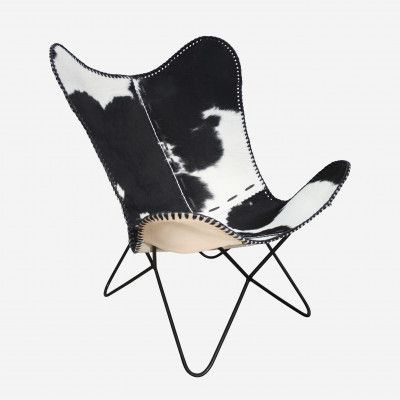 Cowhide Chairs Nz White Fuzzy Desk Chair Redcurrent Butterfly 595 00 Monochrome