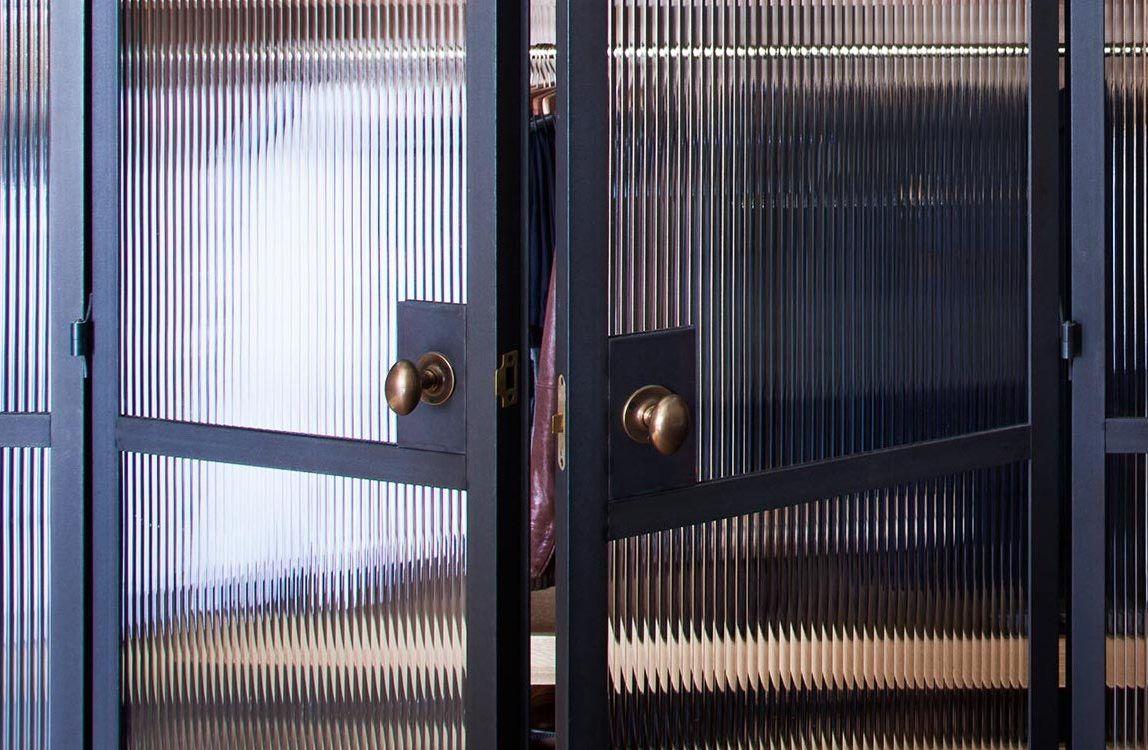 Steel Window And Door With Reeded Glass Crittall Style W20 Metal In 2020 Steel Windows Door Inspiration Metal Door