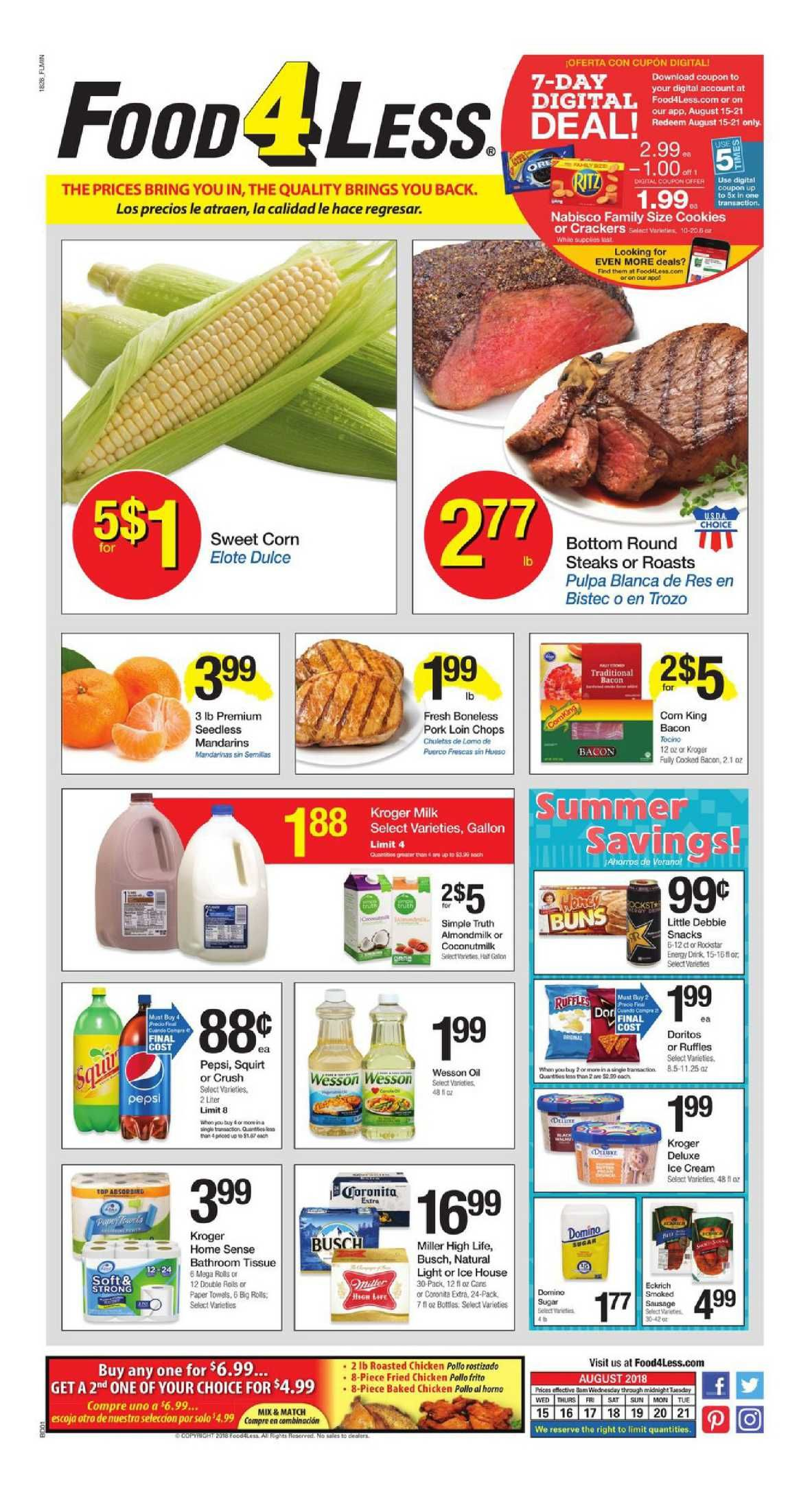 Food 4 Less Weekly Ad Flyer Mar 11 Mar 17, 2020