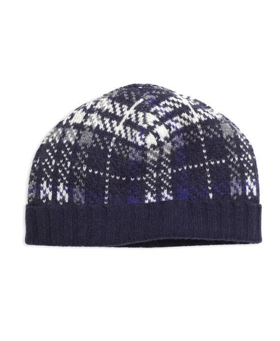Wool Plaid Cable Knit Hat Brooks Brothers, Inc. Our cable knit hat is crafted in pure wool with a plaid pattern. $27.20