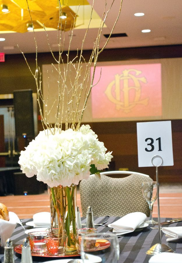 Simple Diy White And Gold Tall Centerpieces L Happinessiscreating