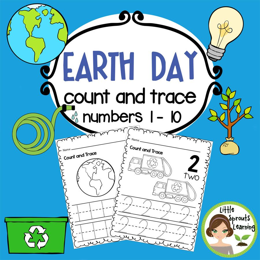 Earth Day Count and Trace (Numbers 0 -20 ) | Earth day ...