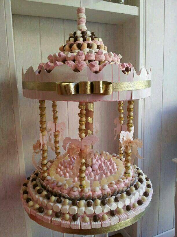 Aprende como hacer estos lindos carruseles de dulces y for Como hacer un centro de mesa facil