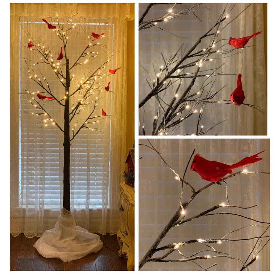 Christmas Memory Tree A Cardinal For Each Loss Memory Tree Pretty Christmas Trees Christmas Decorations