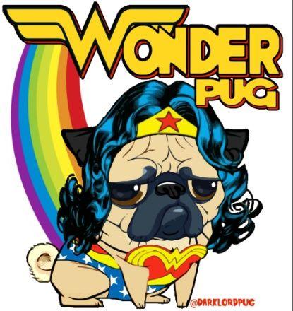 Wonder Pug Art Print (с изображениями)   Рисунок собаки ...