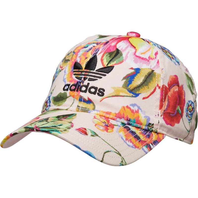 fc036dcc2801ef adidas Originals x The FARM Company Womens Floral Print Cap Halo  Pink/Multicolour