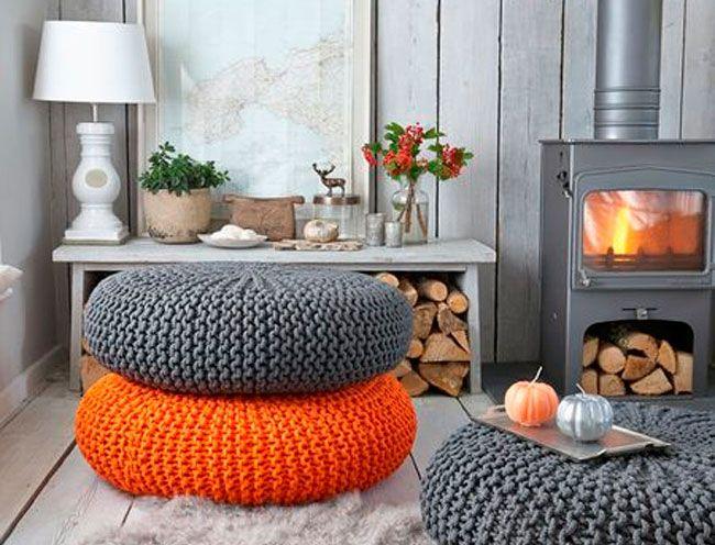 Decoración con naranja | OrangeDeco | Pinterest | Naranja, Salón y Gris