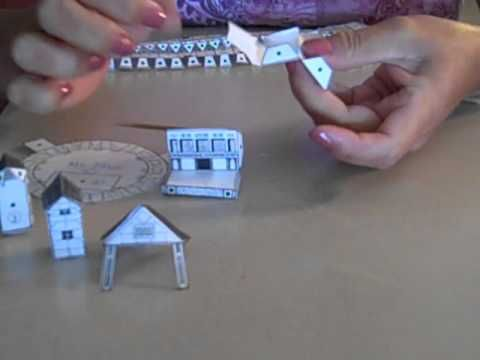 how to put together the paper model of the globe theater