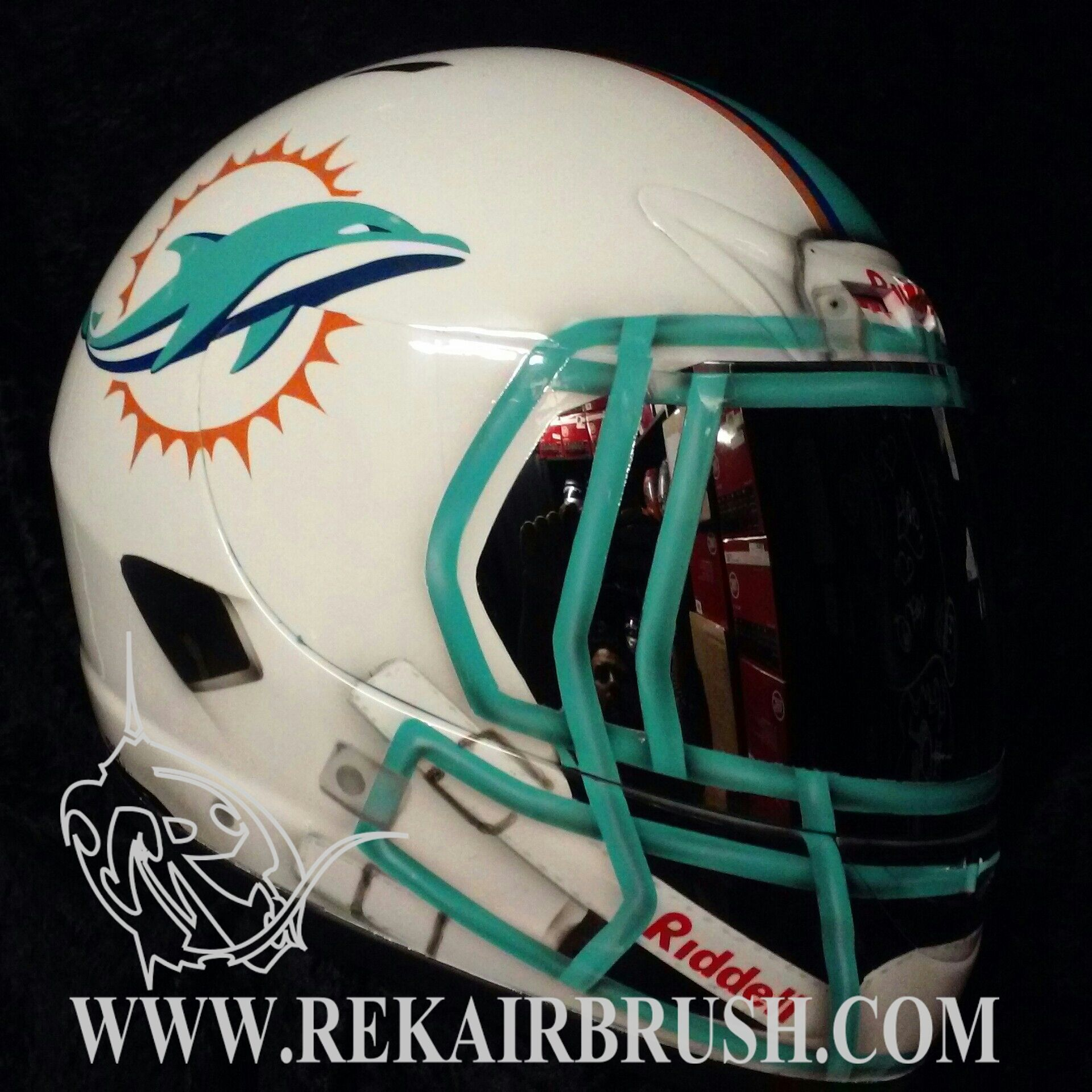 Motorcycle gloves san francisco - The Miami Dolphins Custom Made Motorcycle Helmet By Www Rekairbrush Com