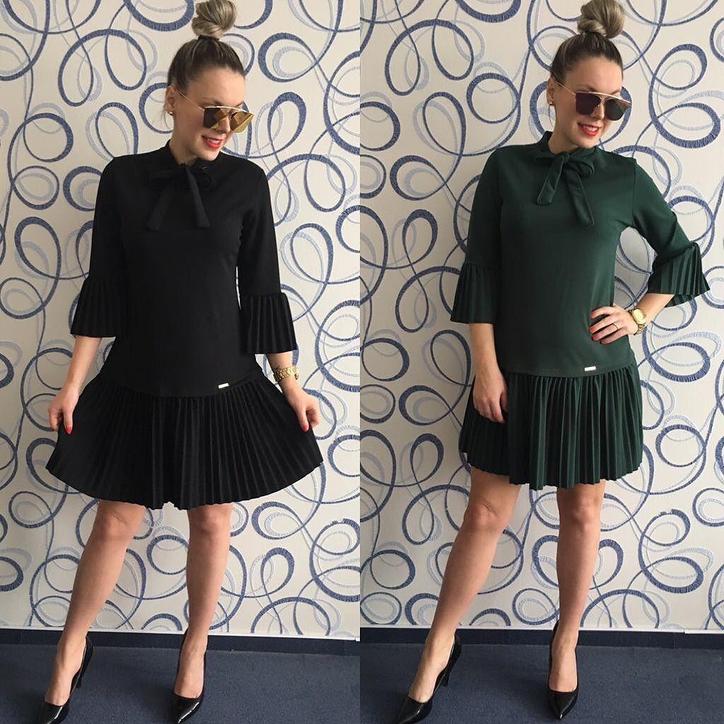 516a710ffdfb Kvalitné šaty s naskladanou sukňou a mašľou na krku veľkosť UNI vhodné pre  S-M-L dodanie do