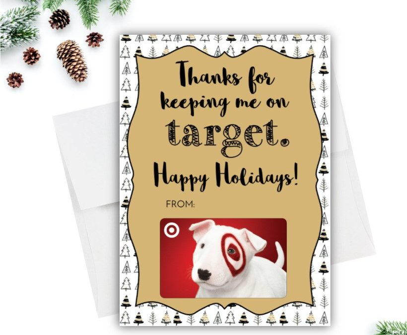 Target Christmas Tree Gift Card Holder Rose Paper Press