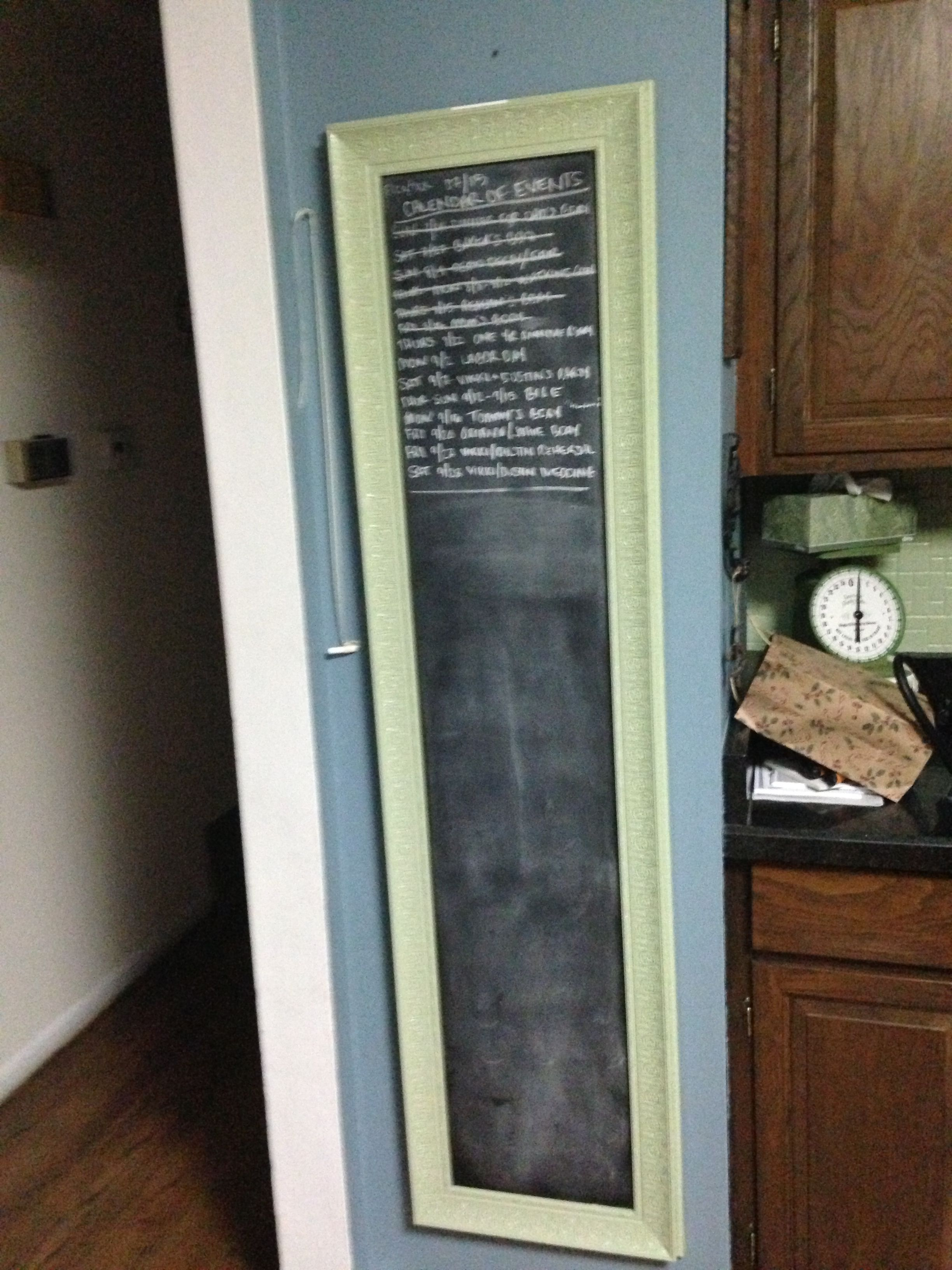 Old full length mirror painted black frame to the color i for Full length mirror black frame
