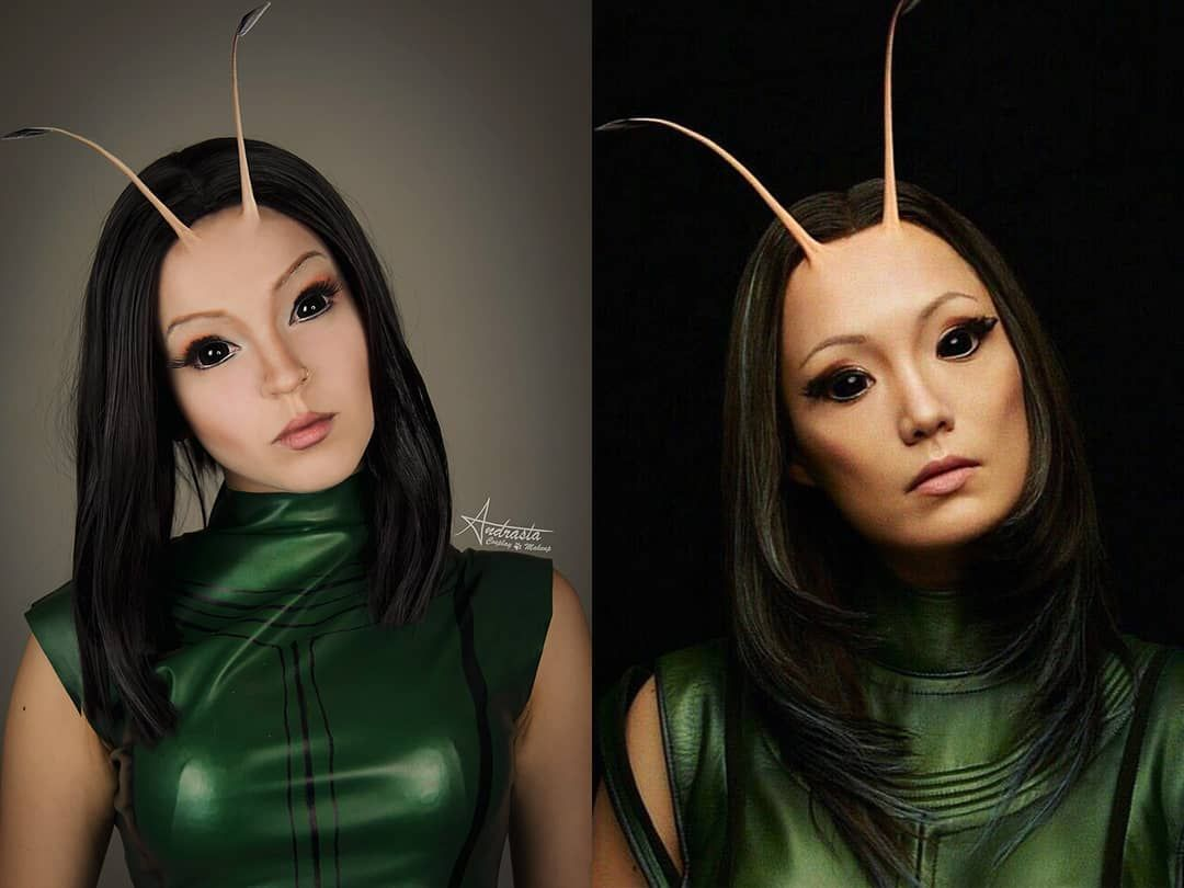 Mantis From Guardians Of The Galaxy Marvel Marvelcosplay Guardiansofthegalaxy Mantis Marvelmakeu Guardians Of The Galaxy Galaxy Makeup Comic Con Cosplay