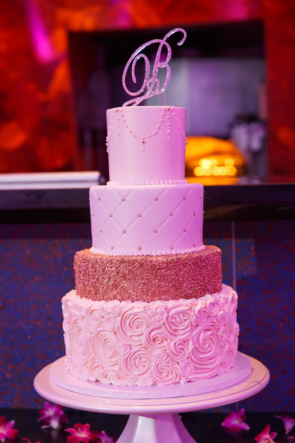 Purple Contemporary Tampa Wedding | Round cakes, Gold weddings and ...