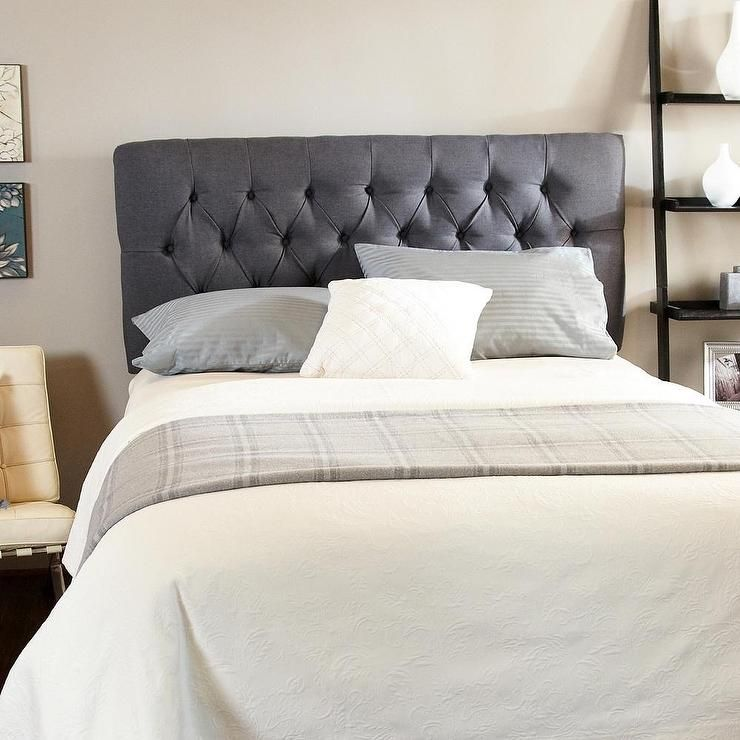 Adorable Tufted Headboard With Pillows And Blanket   Headboards ...