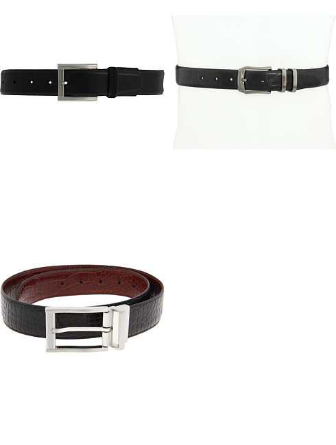 Tiger Woods Open Air Perforated Mesh Belt by Nike, Laser-Etched Croco Belt Buckle by Nike, Croco Reversible by Nike