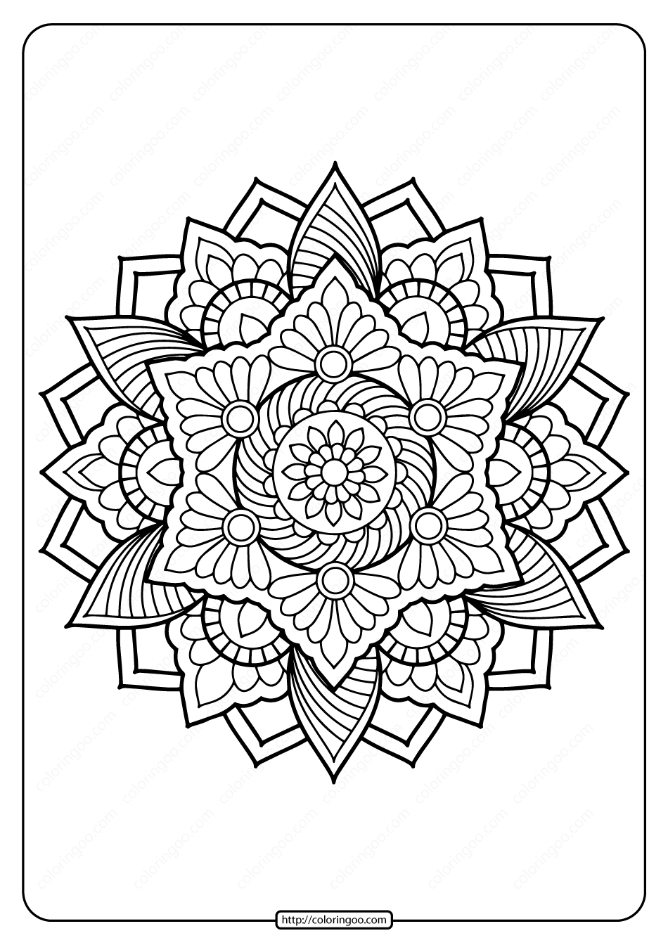 Printable Coloring Book Pages For Adults 024 In 2020 Mandala Coloring Pages Mandala Coloring Books Mandala Coloring