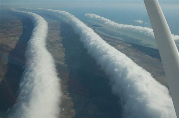 The Morning Glory cloud is a rare meteorological phenomenon occasionally observed in different locations around the world. The southern part of Northern Australia's Gulf of Carpentaria is the only known location where it can be predicted and observed on a more or less regular basis. The settlement of Burketown attracts glider pilots intent on riding this phenomenon.