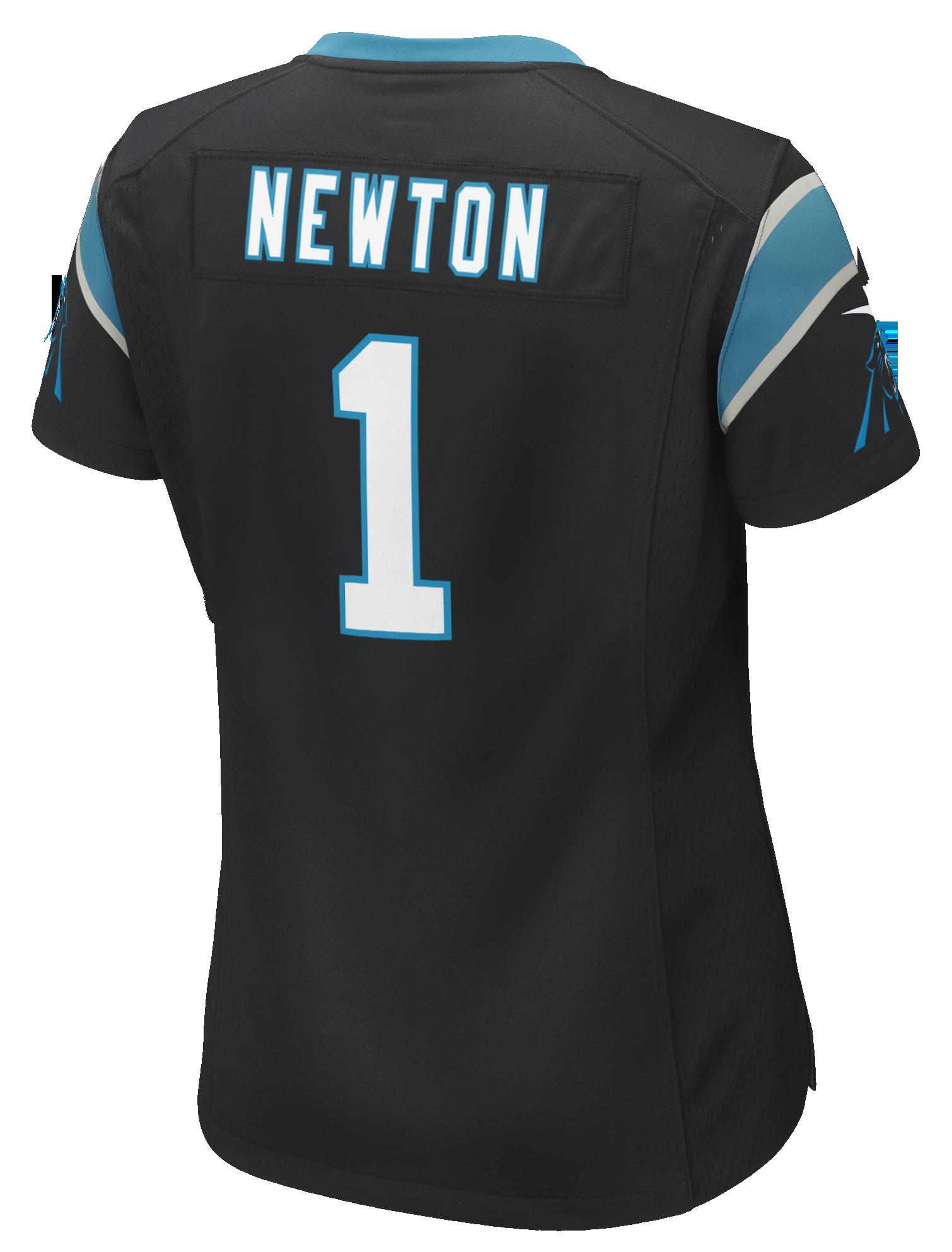 Carolina Panthers Women s Cam Newton  1 Nike Black Game Jersey  41c799b79