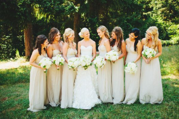 Neutral Bridesmaid Dresses By Jenny Yoo I M Thinking May Like This Idea With My Bright Flowers