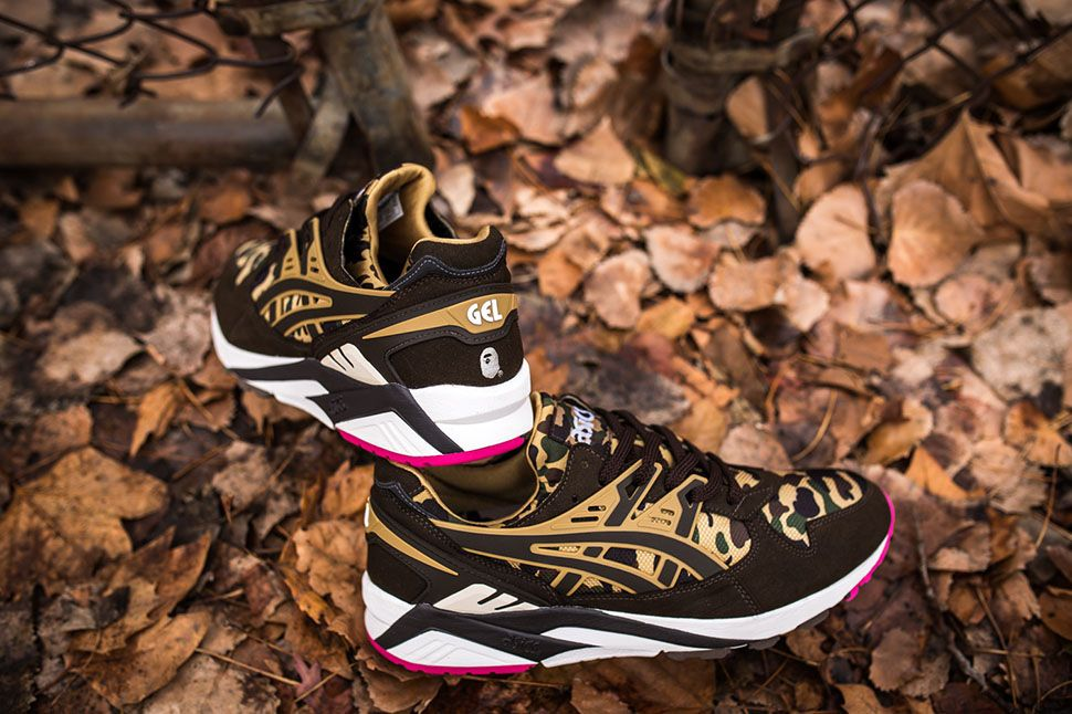 bf2de77cd2b2 BAPE x ASICS Gel-Kayano Trainer   Gel-Lyte V (Detailed Pictures ...