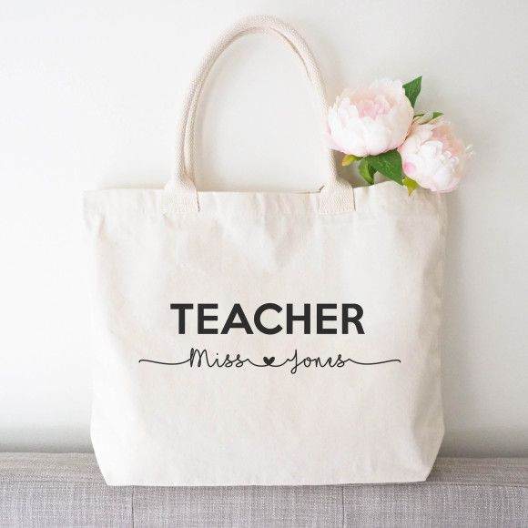 Photo of Personalised TEACHER tote bag