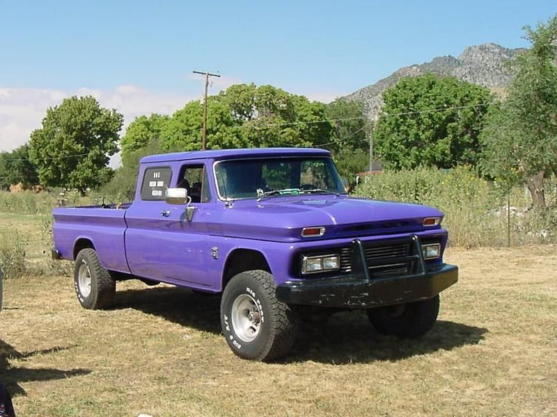 65 Chevy Extended Cab Here S A Nice Home Made 2 Door Crew Cab That Lives In Cedar City Utah Trucks Classic Pickup Trucks Gmc Truck